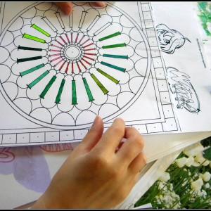 Mandala d'enfant-eclore